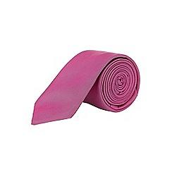 Burton - Slim pink floral tie and pocket square set