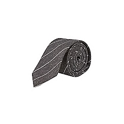 Burton - Grey scratch stripe tie
