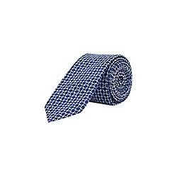 Burton - Blue textured tie with clip