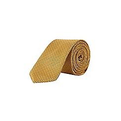 Burton - Mustard yellow geometric design tie