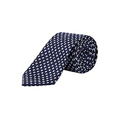 Burton - Tailored navy spot tie