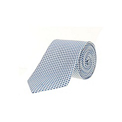 Burton - Blue textured silk tie