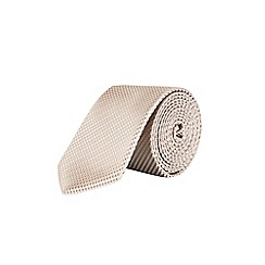 Burton - Champagne texture and pocket square set tie