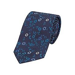 Burton - Tailored navy floral tie