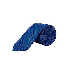 Burton - Slim blue textured tie and pocket square set