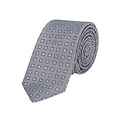 Burton - Slim grey patterned tie