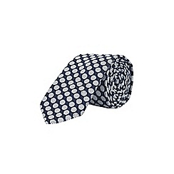 Burton - Navy circle pattern tie