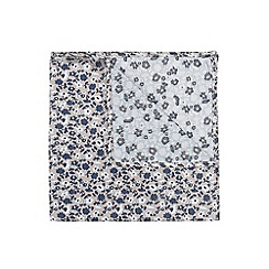 Burton - Slim ecru floral pocket square