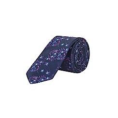 Burton - Purple floral tie