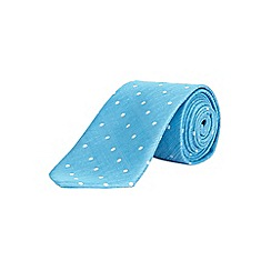 Burton - Tailored aqua patterned tie
