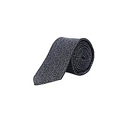 Burton - Charcoal textured tie with clip