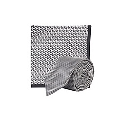Burton - Grey city sport tie and pocket square set