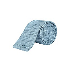 Burton - Slim light blue knitted tie