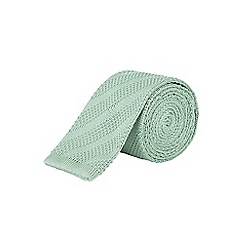 Burton - Slim mint green knitted tie
