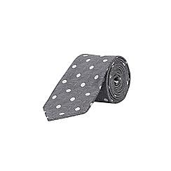 Burton - Grey spotted tie