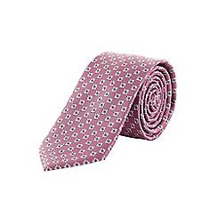 Burton - Slim pink geometric tie