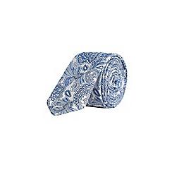 Burton - Bold blue paisley print tie