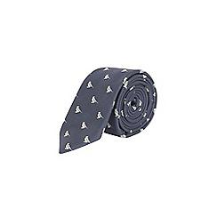 Burton - Navy woven bird pattern tie