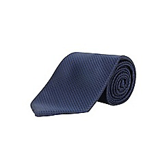 Burton - 2 pack slim blue check tie set