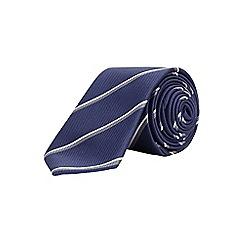 Burton - 2 pack slim burgundy and navy stripe tie set