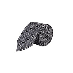 Burton - Grey Montague Burton geometric tie