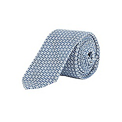 Burton - Slim blue geometric tie
