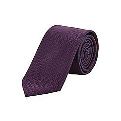 Burton - Slim burgundy geometric tie