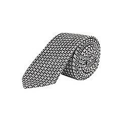 Burton - Slim navy geometric tie