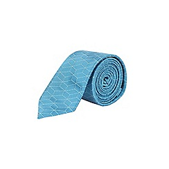 Burton - Mint and blue large scale geometric tie