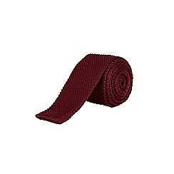 Burton - Dark red knitted tie