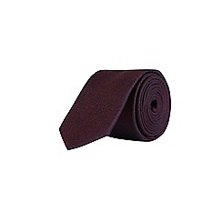 Burton - Burgundy textured party tie