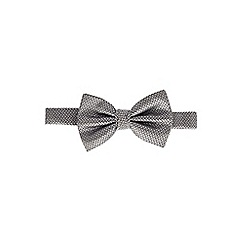 Burton - Silver geometric design bow tie
