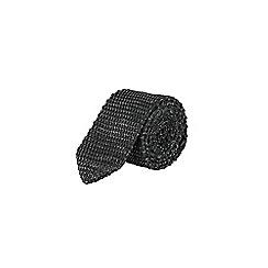 Burton - Charcoal twist knit tie