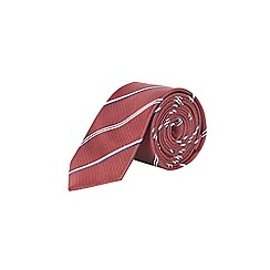 Burton - Burgundy striped tie