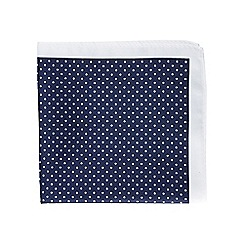 Burton - Navy polka dot pocket square
