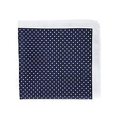 Burton - Navy polka dot pocket square