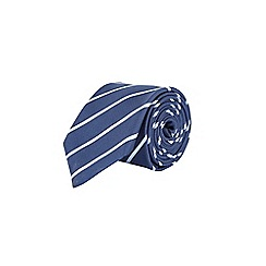 Burton - Navy fine striped tie