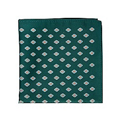 Burton - Green geometric pocket square