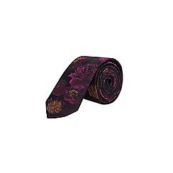 Burton - Dark pink floral tie