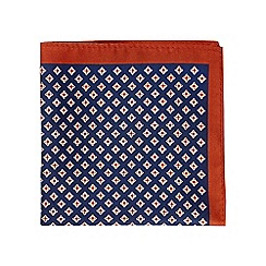 Burton - Navy geometric pocket square