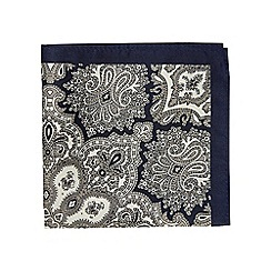 Burton - Navy paisley pocket square