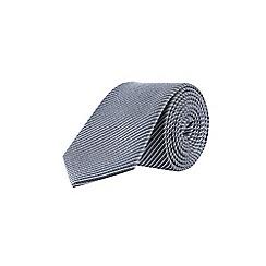 Burton - Navy Montague Burton fine stripe tie