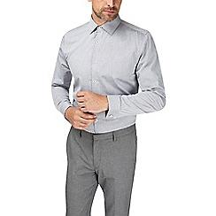 Burton - Montague burton grey slim cotton textured shirt