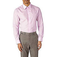 Burton - Pink tailored fit easy iron shirt