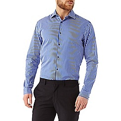 Burton - 100% cotton slim bold stripe shirt