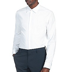 Burton - White slim textured shirt