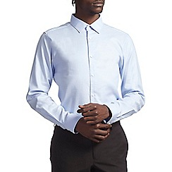 Burton - Slim blue  cotton shirt