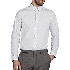Burton - Slim white arrow print shirt