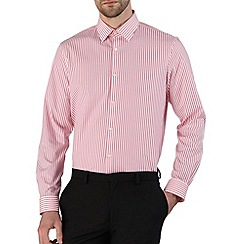 Burton - Pink cotton stripe tailored fit shirt