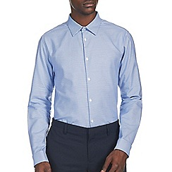 Burton - Montague burton blue patterned shirt
